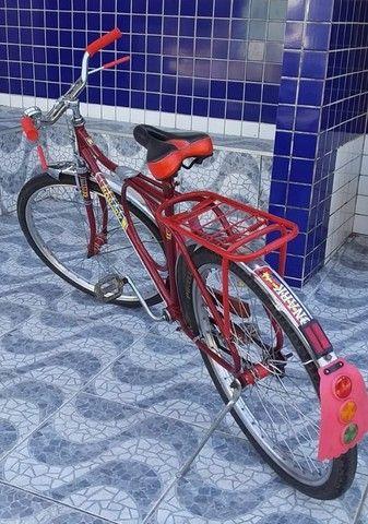 Bicicleta Barra Circular Monark Vermelha aro 26 - Foto 2