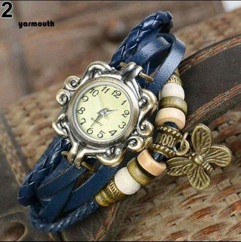 Relógio De Pulso Feminino Multicamadas Vintage - Foto 3