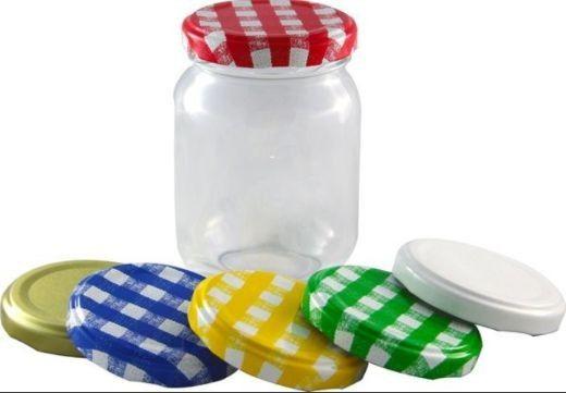 Caixa com 10 Potes de vidro de 250 ml