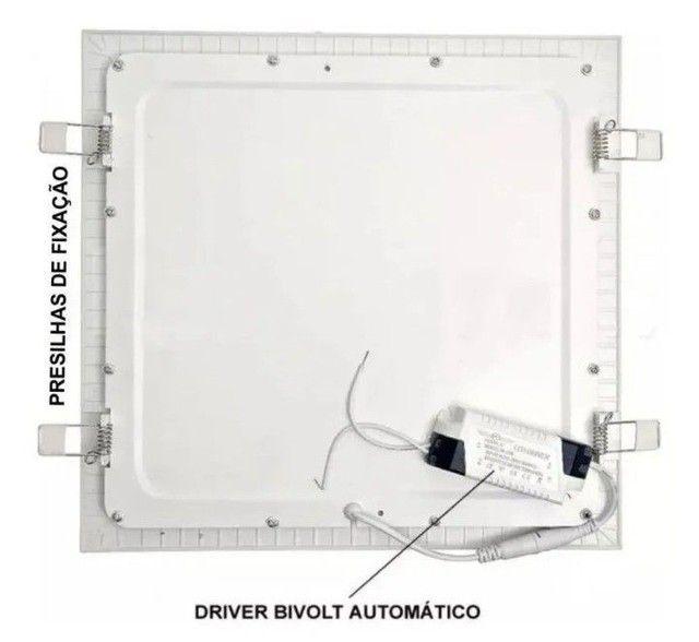 Plafon Led Quadrado Embutir 25w Branco Neutro 4000k 30cm x30cm - Foto 4