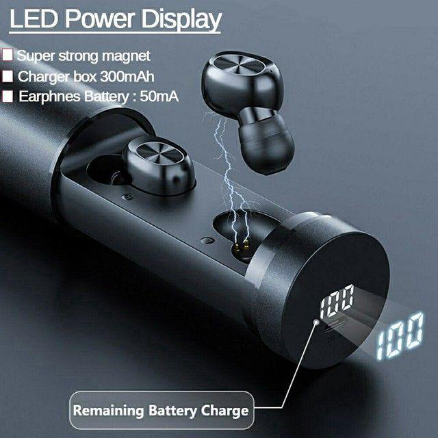 Fone de Ouvido B9 TWS sem Fio com Bluetooth 5 0 / Headset Esportivo / Headset Gamer - Foto 2