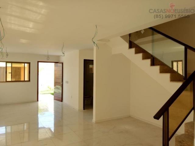 Casa duplex nova no centro do eusebio, 162 metros, 3 suítes, apenas 350 mil pra fechar - Foto 6