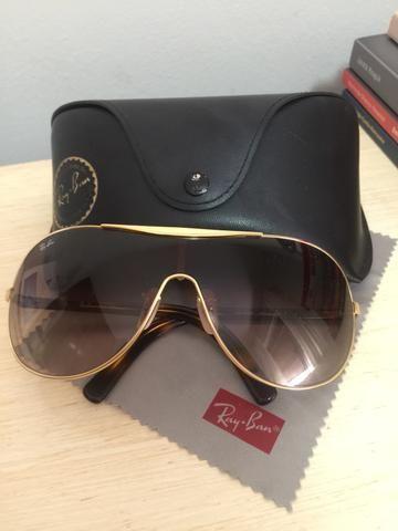 Óculos Ray Ban original,armação dourada e alças de acrílico ... f8cc4675fe