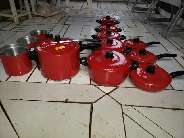 JOGO DE PANELA leiteira panelas de pressão frigideiras - Foto 2