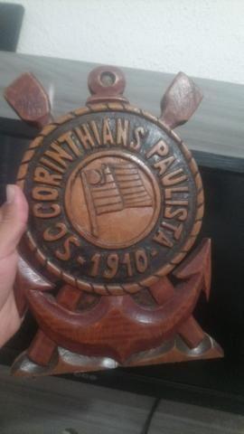 c3f180294c Simbolo do Corinthians Entalhado Em Madeira Nobre e Maciça - Objetos ...