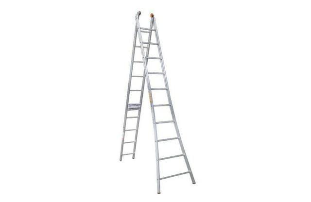 Escada de alumínio extensível 2 x 10 degraus 5,40mt