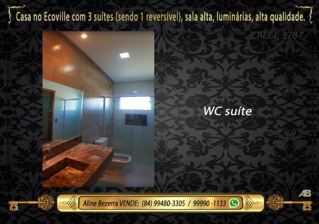 Financia, casa com 3 suítes no Ecoville, sombra, alta qualidade, venha conhecer - Foto 8
