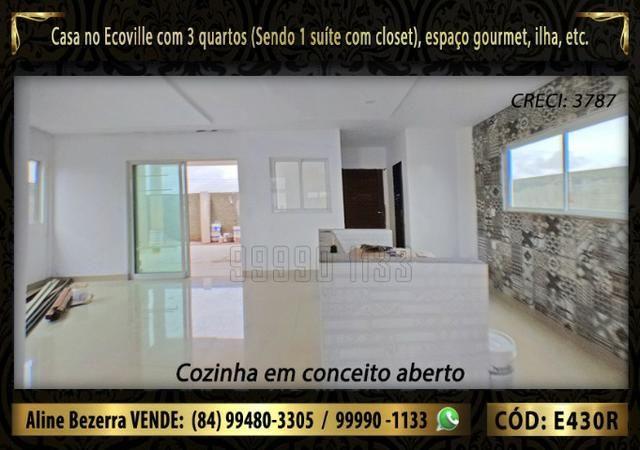 Oportunidade, duplex no Ecoville, com 3 quartos, cozinha com ilha, sala alta, confira - Foto 6
