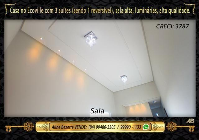Financia, casa com 3 suítes no Ecoville, sombra, alta qualidade, venha conhecer - Foto 3