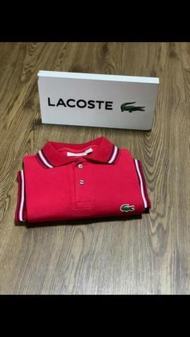 Camisa Polo Lacoste Masculina - Cor Vermelha
