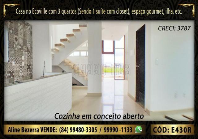 Oportunidade, duplex no Ecoville, com 3 quartos, cozinha com ilha, sala alta, confira - Foto 7