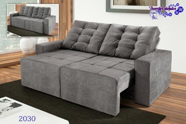 Sofá retrátil e reclinável Ref2030 Boareto #evk2030