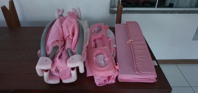 Vende-se berço portátil desmontável burigotto Rosa - Foto 3