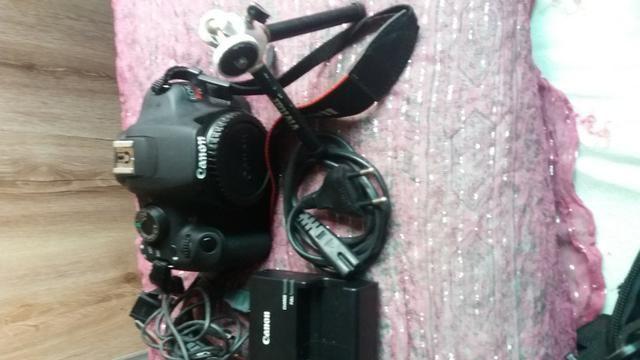 Câmera Fotográfica Cannon EOS Rebel T5 com 2 lentes e acessórios - Foto 3