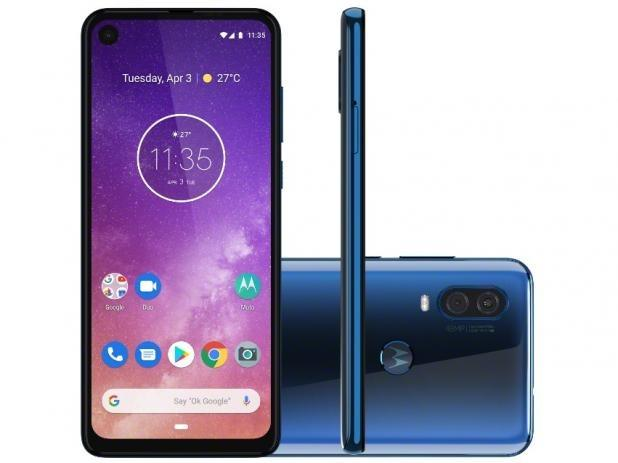 Motorola One Vision - 128GB - Azul - Lacrado - 48Mp - Foto 4
