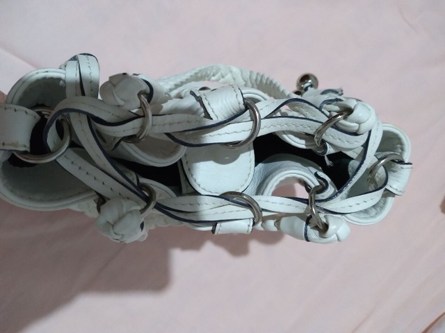 Bolsa em couro branca - Foto 4