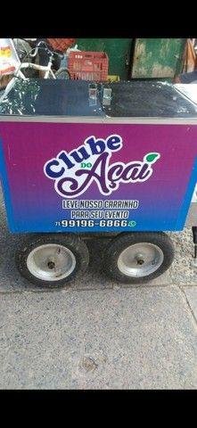 Vendo carrinho personalizado de açaí ,salada de frutas ,sorvetes!!  - Foto 2