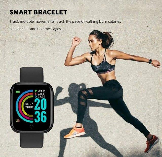 Smartwatch com notificações de mensagem e monitor de exercícios - Foto 3