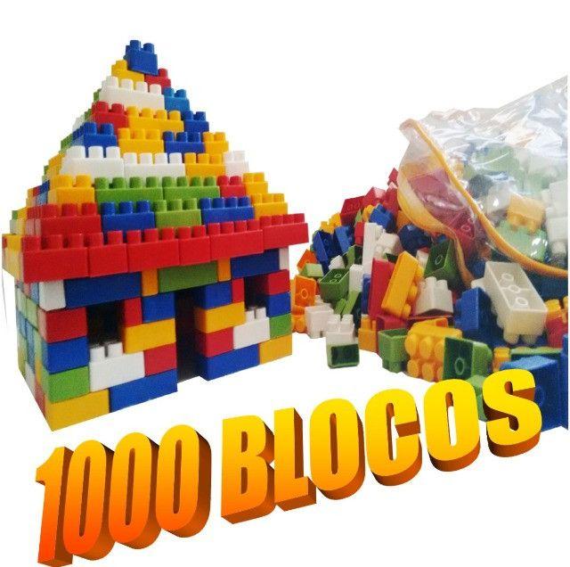 Brinquedo educativo pedagógico 1000 pecas tipo lego estimulante de criatividade - Foto 2