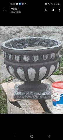 Vasos de plantas rústicos da  cor que prefirir