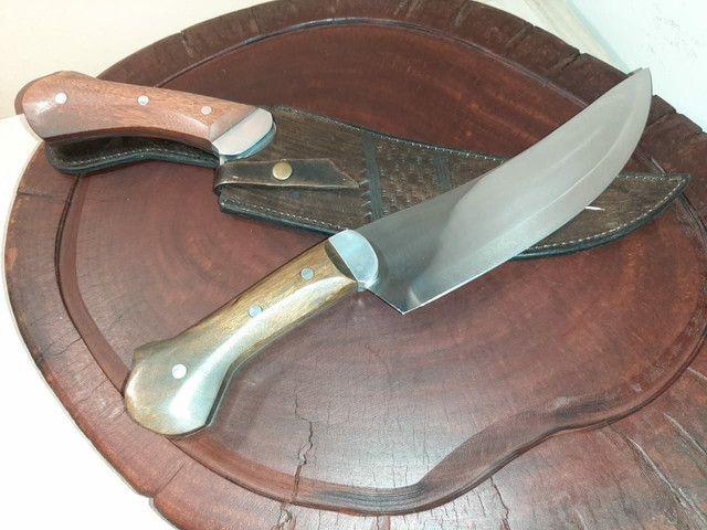 Facas para churrasco artesanal aço inox  - Foto 5