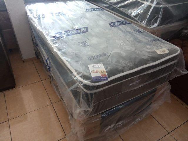 Cama box solteiro molas ensacadas - Foto 2