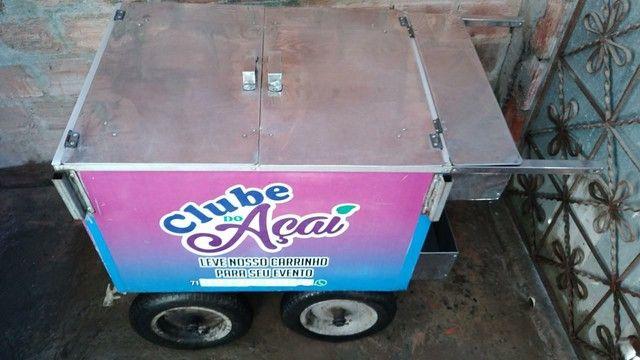 Vendo carrinho personalizado de açaí ,salada de frutas ,sorvetes!!  - Foto 4