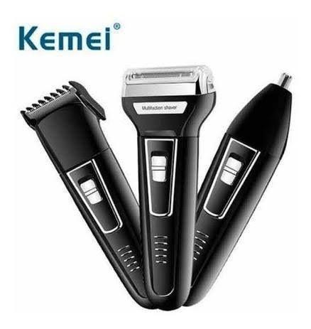 Maquina Kimei KM6558 3 x 1, barbeador, aparador e corte! Caraguatatuba. - Foto 4
