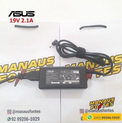 Fonte Notebook Asus 19V 2.1A Ponta Fina Novo c/ Garantia