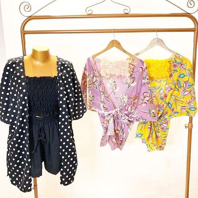 Vendo lote de roupas feminina 100 peças - Foto 2