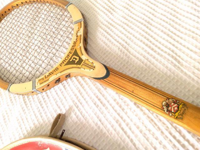 Raquete antiguidade Davis Raquete Tênis antiga - Foto 6