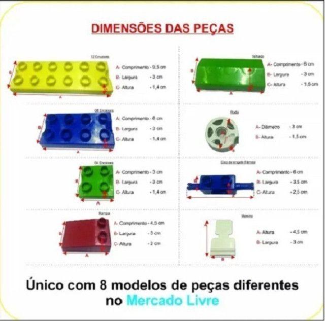 Brinquedo educativo pedagógico 1000 pecas tipo lego estimulante de criatividade - Foto 3