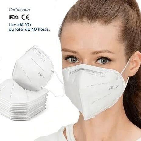 Máscara KN95 Descartável 5 Camada Com Clip Nasal C/5 PÇS - Foto 3