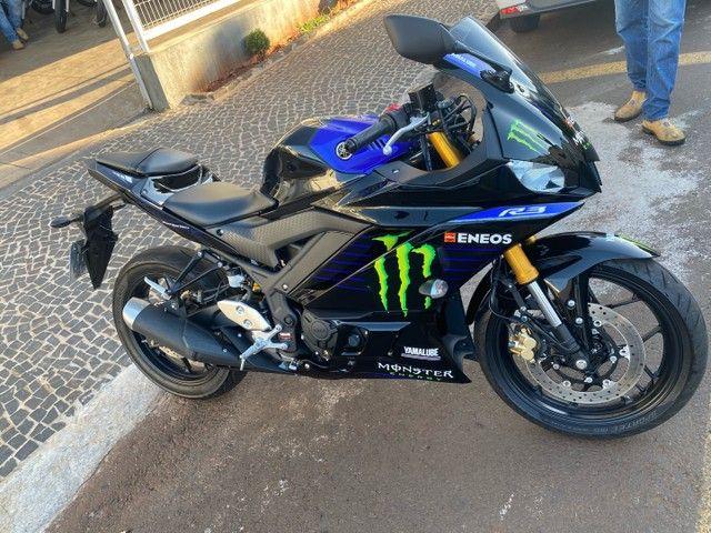Yamaha r3 monster sem arranhão bem nova