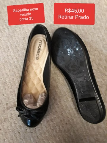 Sapatos couro semi novos 34 - Foto 2