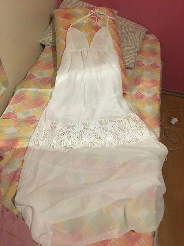 Vestido branco longo  - Foto 3