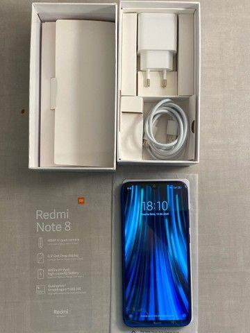 Imperdível! Redmi Note 8 Neptune Blue 128gb ROM 4gb RAM Dual Chip - Foto 3