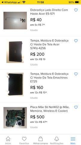 Placa mãe de notebook ACER 4x R$ 400 - Foto 4
