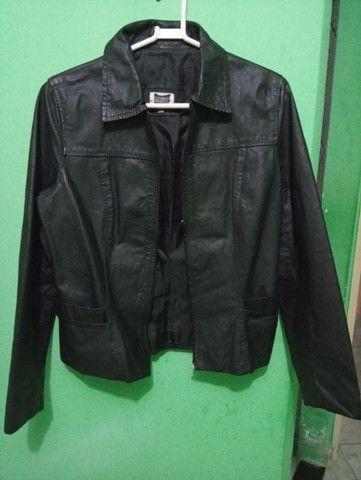 Jaqueta de couro legítimo. Tamanho P