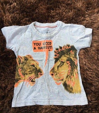 Camisa infantil tamanho GB