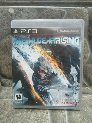 Jogo Metal Gear Rising Ps3 Midia Fisica Original!