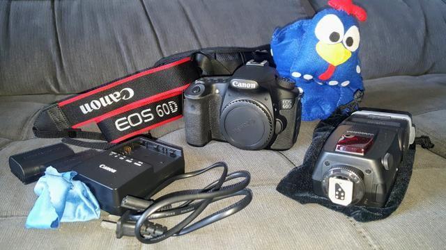 Canon Eos 60d C/ 3k Cliques. Raridade. Ótimo Estado. Bônus! - Foto 3