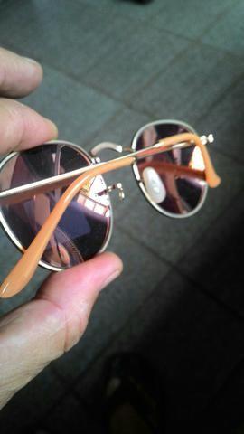 Oculos Raund Rosa lente de Cristal - Bijouterias, relógios e ... f03e5d7239