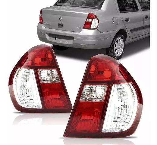 Par Lanterna Traseira Clio Sedan 2004 2005 A 2010 2011