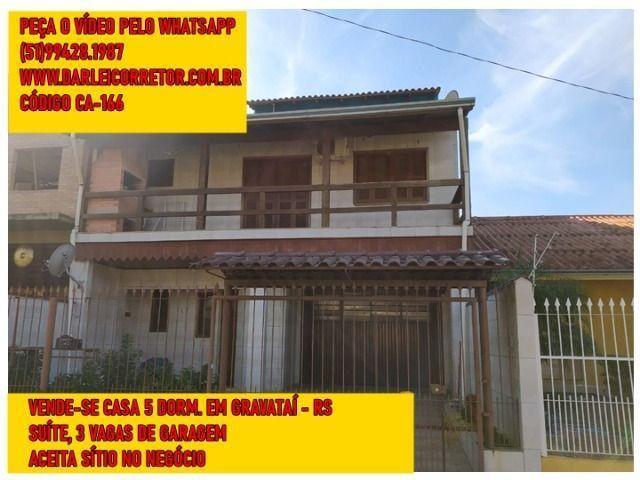 Casa em Gravataí Alto Padrão 5 Dorm. Aceita Sítio no Negócio - Peça o Vídeo pelo Whatsapp