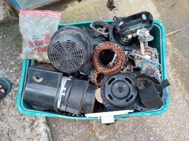 Peças de ventilador vendo tudo junto  - Foto 6
