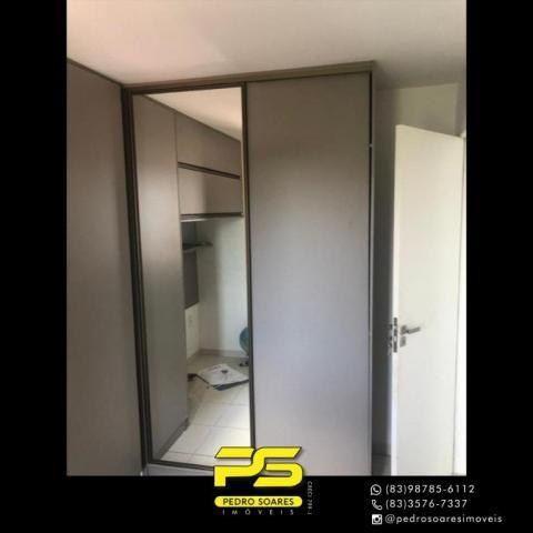 Apartamento com 2 dormitórios para alugar, 60 m² por R$ 1.700/mês - Altiplano Cabo Branco  - Foto 8