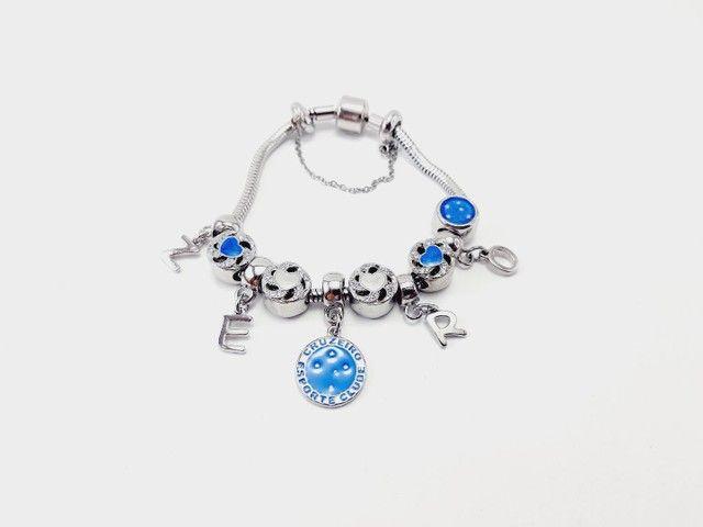 Pulseiras e berloques lindos modelos monte sua pulseira - Foto 4