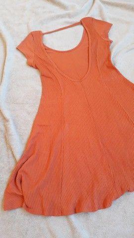 Vestido de malha canelada ,tam. M Dress to  - Foto 6