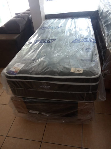Cama box solteiro molas ensacadas - Foto 3
